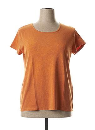 T-shirt manches courtes orange PAUL BRIAL pour femme