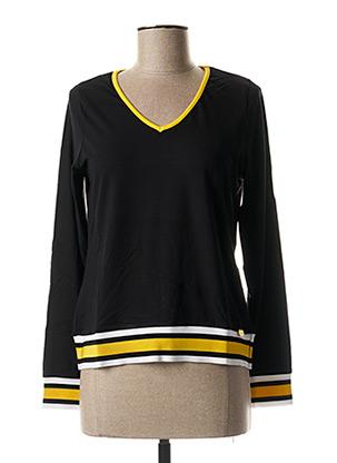 T-shirt manches longues noir PAUL BRIAL pour femme