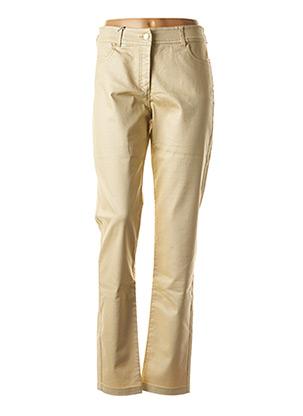 Pantalon casual beige PAUL BRIAL pour femme