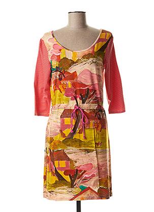 Robe courte rose PAUL BRIAL pour femme