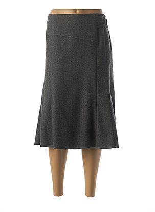 Jupe mi-longue gris FRANCE RIVOIRE pour femme