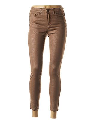 Pantalon 7/8 marron VILA pour femme