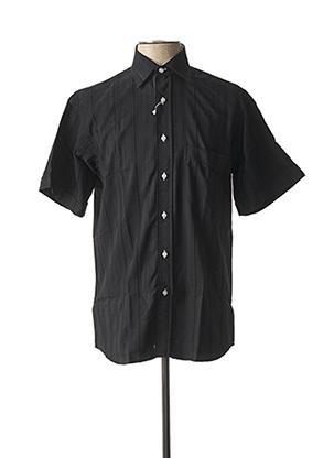 Chemise manches courtes noir CAP 10 TEN pour homme