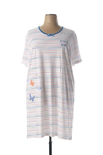 Chemise de nuit blanc ARY & BELLE pour femme