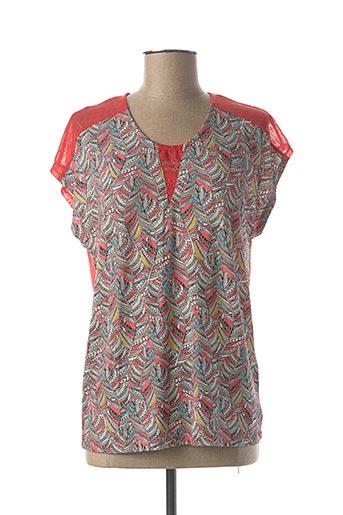 T-shirt manches courtes orange FELINO pour femme