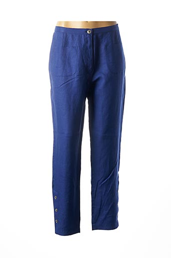 Pantalon 7/8 bleu FILIPINE LAHOYA pour femme