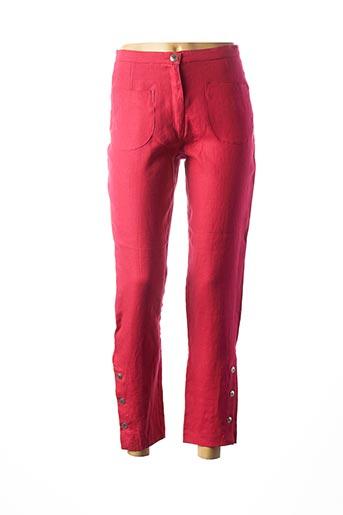 Pantalon 7/8 rose FILIPINE LAHOYA pour femme