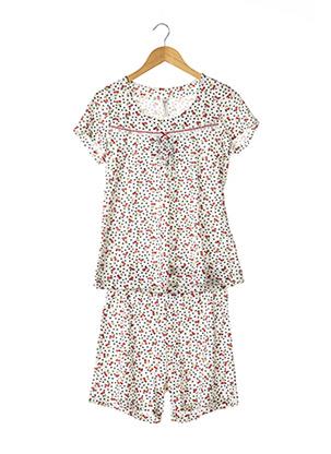 Pyjashort blanc SENORETTA pour femme