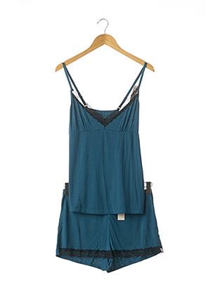 Pyjashort bleu KOLLE SERRE pour femme