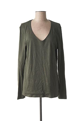 T-shirt manches longues vert STREET ONE pour femme