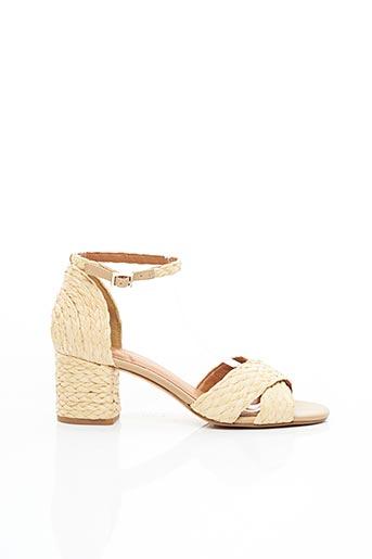 Sandales/Nu pieds beige WHAT FOR pour femme