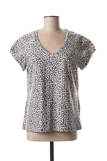 T-shirt manches courtes gris KALI YOG pour femme