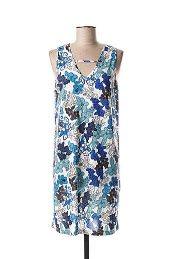 Robe courte bleu COMOUNAREGADERA pour femme