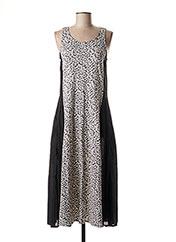 Robe mi-longue gris KALI YOG pour femme seconde vue