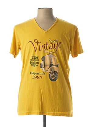 T-shirt manches courtes jaune HOPENLIFE pour homme