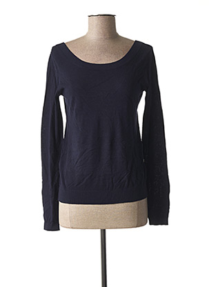Pull col rond bleu I.CODE (By IKKS) pour femme