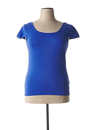 T-shirt manches courtes bleu PAUL BRIAL pour femme