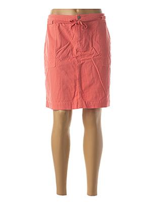 Jupe courte orange INDI & COLD pour femme