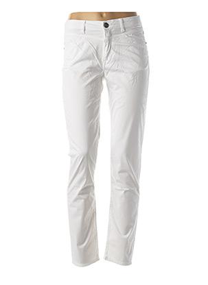 Pantalon casual blanc MENSI COLLEZIONE pour femme