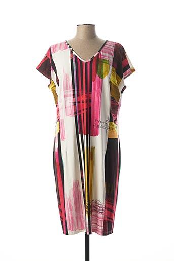 Robe mi-longue rose MERI & ESCA pour femme