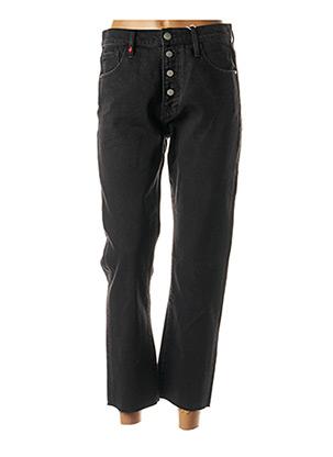 Jeans coupe droite noir F.A.M. pour femme