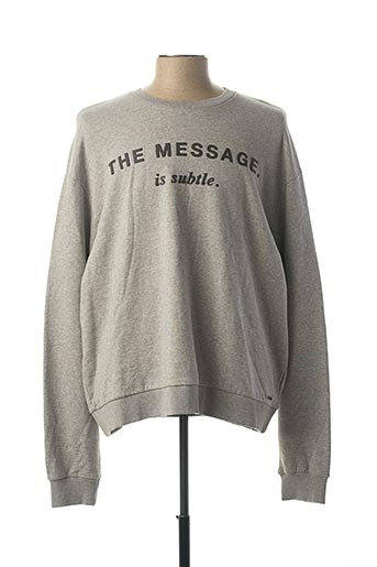 Sweat-shirt gris DIESEL pour homme