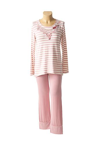 Pyjama rose PEPITA pour femme