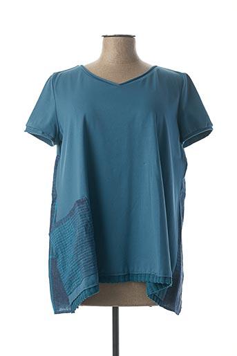 T-shirt manches courtes bleu KEDZIOREK pour femme