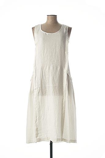 Robe mi-longue blanc KOKOMARINA pour femme