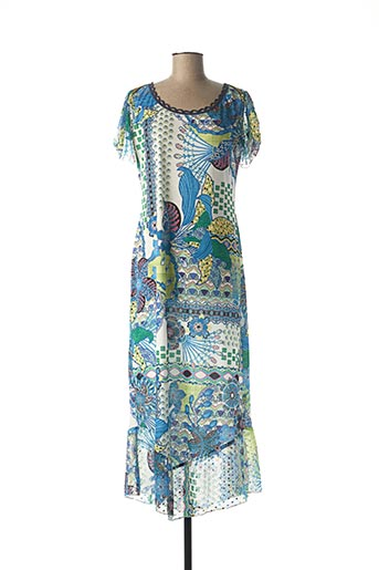Robe mi-longue bleu LO! LES FILLES pour femme