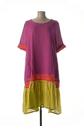 Robe mi-longue violet ALEMBIKA pour femme