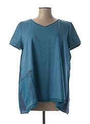T-shirt manches courtes bleu KEDZIOREK pour femme seconde vue