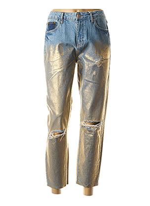 Jeans coupe droite bleu BSB pour femme