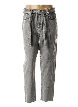 Jeans coupe droite gris BSB pour femme