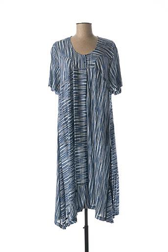 Robe longue bleu FRANCK ANNA pour femme