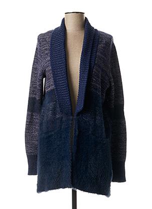 Gilet manches longues bleu DESIGUAL pour femme
