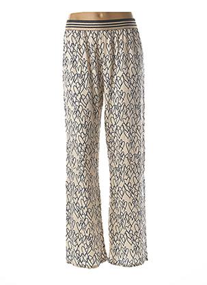 Pantalon casual beige COSTA 8 MANI pour femme