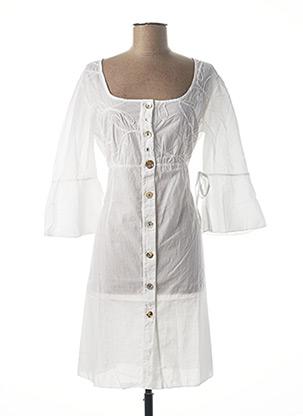 Robe mi-longue blanc ARTE PURA pour femme