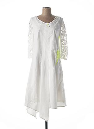 Robe mi-longue blanc ELISA CAVALETTI pour femme