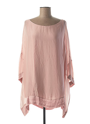 Tunique manches longues rose B.YU pour femme