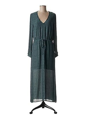 Robe longue vert SCHOOL RAG pour femme