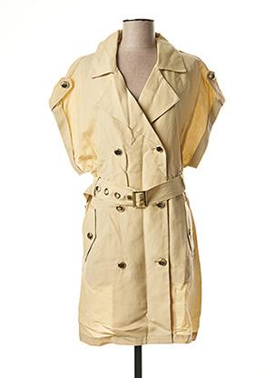 Robe mi-longue beige SCHOOL RAG pour femme