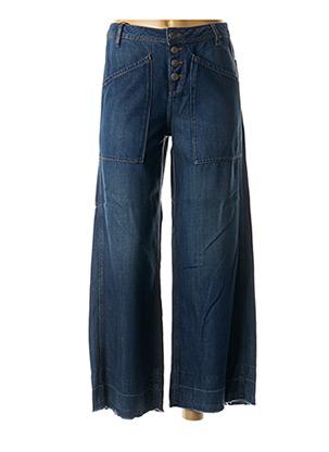 Jeans coupe large bleu SCHOOL RAG pour femme