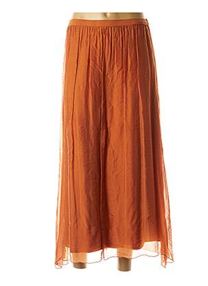 Jupe longue orange LA FEE MARABOUTEE pour femme