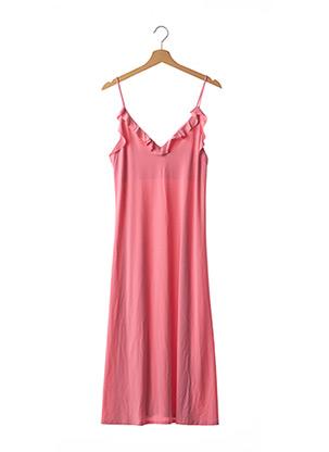 Robe mi-longue rose ZARA pour femme
