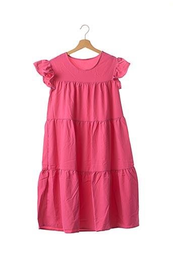 Robe mi-longue rose SANS MARQUE pour femme