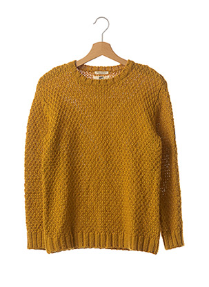 Pull col rond jaune ZARA pour fille