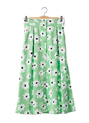 Jupe longue vert MONKI pour femme