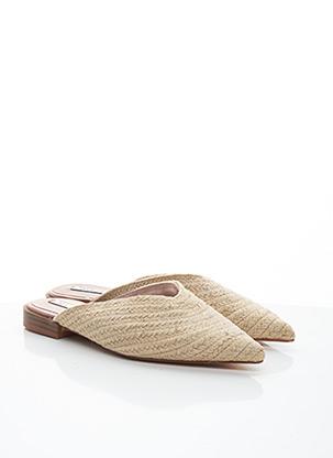 Mules/Sabots beige ZARA TRAFALUC pour femme