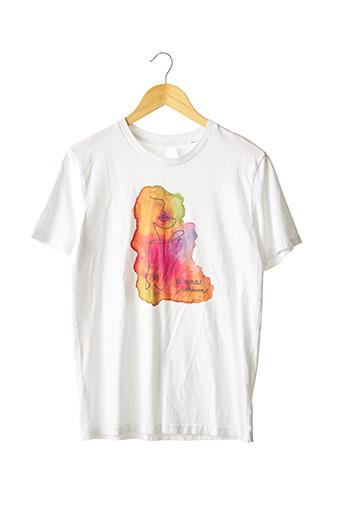 T-shirt manches courtes blanc SANS MARQUE pour femme